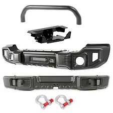 Rugged Ridge F&R Spartacus Bumpers w/ Over Rider & Winch Plate 07-17 Jeep JK JKU