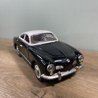 Vintage Tin Toy Friction Car Karmann Ghia Sedan Black MF743 China