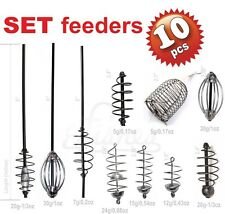 10pcs SET Carp Fishing Feeders 10 types - Coarse Bait Terminal Fishing Tackle