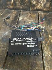 Ballistic Car Stereo Equalizer/amp 100 watt