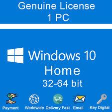 Genuine License Windows 10 Home 32&64 bit Activation Key Link Digital