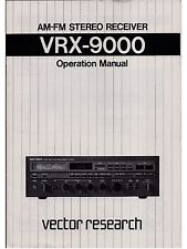 Vector Research VRX-9000 FM/AM Stereo Receiver - Operation & Service Manual PDFs