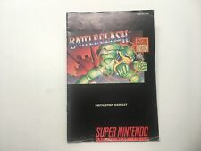 BATTLECLASH - SNES MANUAL ONLY (NO GAME)