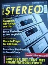 6/06 stereo LINN MAJIK, CD, Kontrol, 2100, Vienna MOZART Grand, MARANTZ sa 7001, audio