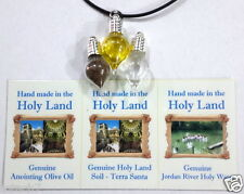 Holy Land charm pendants Holy water,soil,anointing oil from Jerusalem