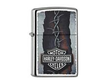 "ZIPPO ""HARLEY DAVIDSON BARBED WIRE"" STREET CHROME COLOR LIGHTER / 60002103 *BOX*"