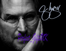 STEVE JOBS SIGNED AUTOGRAPHED 10X8 INCH REPRO PHOTO PRINT