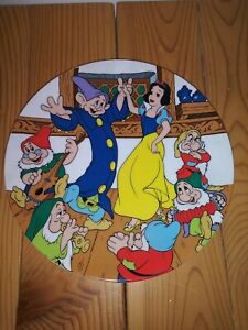 Walt Disney 1st. Edition Plate Snow White & The 7 Dwarfs THE DANCE 1983