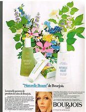 Publicité Advertising 1974 Cosmétique Naturelle beauté de Bourjois