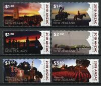 New Zealand NZ 2019 MNH WWI WW1 Anzac Dawn Service 6v Set Military War Stamps