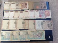Collection of Italy Lire banknotes