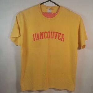 Vintage Yellow Vancouver Tshirt Gildan Tag XL Extra Large - Used