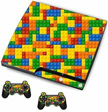 Mattoncino Lego Autoadesivo / Pelle PS3 PLAYSTATION 3 CONSOLE / Remote Controller, psk1