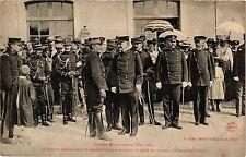CPA Militaire, La isson americaine et le general Brugere assistant (278102)