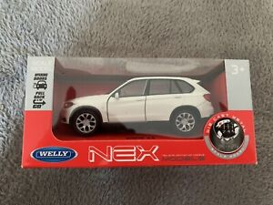 BMW Model Car ~ White X5 Welly NEX Die Cast Scale Model Toy Car ~ Brand New