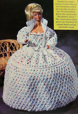 Vtg Crochet Pattern Only ~ Barbie's Elizabethan Gown ~ 100's of Beads ~ Queen