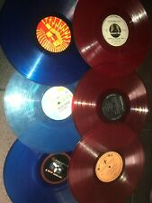 (6) Color Vinyl Record Albums Red Blue ART Décor Wall Original f
