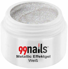 Metallic Effektgel Weiß 5ml Farbgel UV Nagel Gel Effektfarbe Metallic Nails