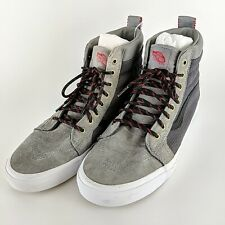 VANS Off The Wall All Weather Grey Men's High Top Skater Sneakers Size 12