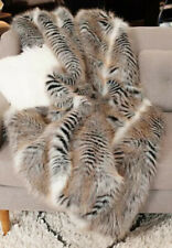 "NWT Donna Salyers Fabulous Stunning Faux Fur Limited Ed. Cross Fox Throw 60""x72"""