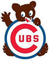 "Chicago Cubs MLB Cub Vinyl Decal - You Choose Size 2""-34"""