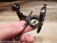 Antique Vintage Style Solid Brass Folding Instrument Binoculars w Compass
