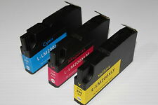 3 Color Ink Cyan Magenta Yellow 200XL for Lexmark OfficeEdge Pro 4000 5000 5500
