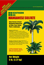 Manganese Sulfate 5 lb. Correct/Prevent Deficiencies in Palms Plants Southern Ag