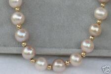 14K Natural Pink Pearl Necklace, Bracelet, Earring Set