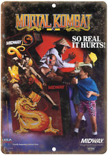 "Mortal Kombat Midway Arcade Game Ad 10""x7"" Reproduction Metal Sign"