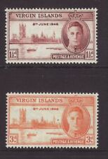 1946 Virgin Is Victory Set Mounted-Mint.