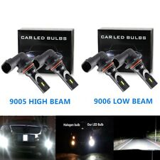 9005+9006 Kit High+Low Beam 6000K Combo CREE LED Headlights Bulbs 7000LM 100W