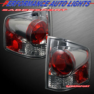 Set of Pair Chrome Smoke Taillights for 1994-2004 Chevy S10 Pickup GMC Sonoma