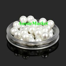 50 x loose beads white imitation pearls ladies girls necklace bracelet jewellery