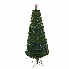 2ft 3ft 4ft 5ft 6ft LED Fibre Optic Christmas Tree with Baubles & Star