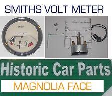 SMITHS VOLTMETER MAGNOLIA faced Classic Gauge suit Austin Cooper & S 1960-70s