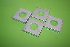 4 Stück Vierkant-Scheibe ähnlich DIN 436, M16 verzinkt für Holzkonstruktion