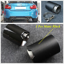 2.7'' Real Carbon Fiber+Stainless Steel Exhaust Pipe For BMW F87 F80 F82 F83 F10