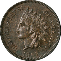 1867 Indian Cent Choice AU/BU Nice Eye Appeal Nice Luster Nice Strike