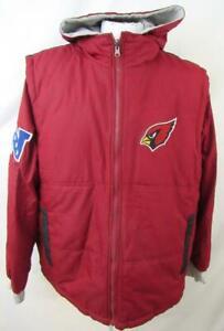 Arizona Cardinals Men L - XL Reversible 2 Piece Vest Winter Combo Jacket ACDN 56