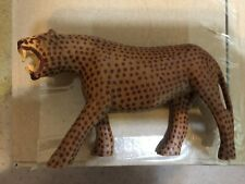 Handcarved African Leopard from Zimbabwe, heavy