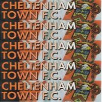 Programme Cheltenham Football Club Whaddon Rd Home Programmes Various Opponents