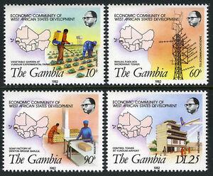Gambie 451-454, Mi 449-452, MNH Economic Communauté De West Africain États, 1982