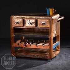 Küchenwagen Fridge Sit echt Altholz bunt lackiert
