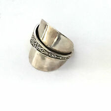 Antique Sterling Silver Spoon Ring size 8
