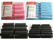 SOFT FOAM CUSHION HAIR ROLLERS,CURLERS HAIR CARE,STYLING 5 SIZES,4 COLORS