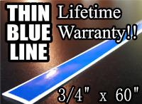 "1"" Inch THIN BLUE LINE Stripe Strip REFLECTIVE Window 60/"" 3M Decal Police Live"