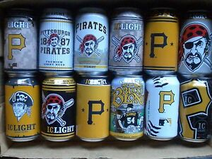 PITTSBURGH PIRATES Beer Cans CHOICE Bottom opened EMPTY Iron City Light Bud