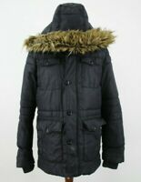 SCHOTT NYC Black Quilted Winter Coat size L