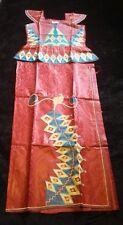Ladies African Brocade Embroidery 100% Cotton Top & Wrap Skirt Suit sz XXL BN!